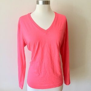 Nike Dri-Fit Fluorescent Pink Long Sleeve Top